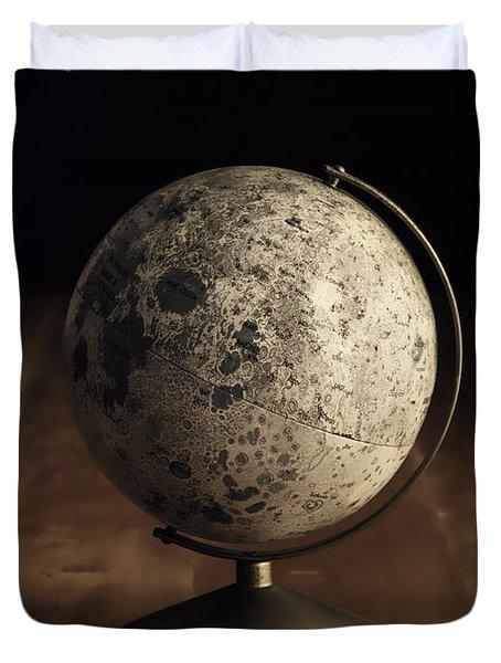 Vintage Moon Globe Duvet Cover