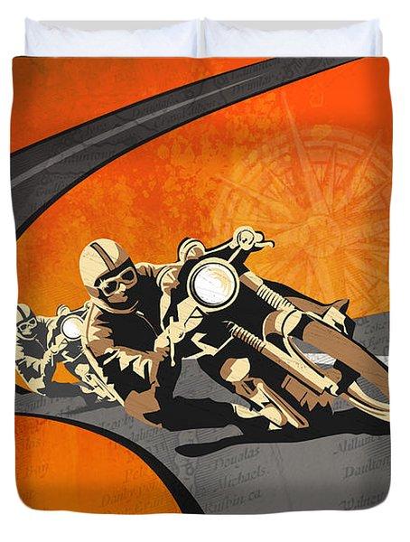 Vintage Motor Racing  Duvet Cover