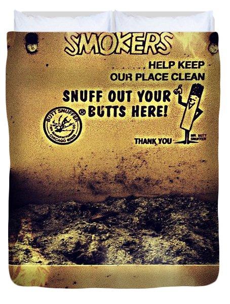 Vintage Mr. Butt Snuffer Ashtray Duvet Cover