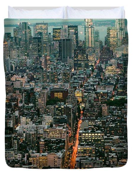 Vintage New York Skyline Duvet Cover