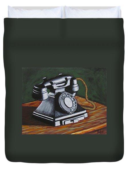 Vintage Phone 2 Duvet Cover