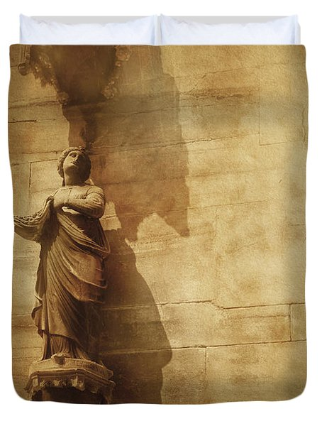 Vintage Photo Of Duomo Architecture Duvet Cover by Evgeny Kuklev
