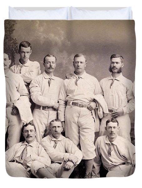 New York Metropolitans Baseball Team Of 1882 Duvet Cover