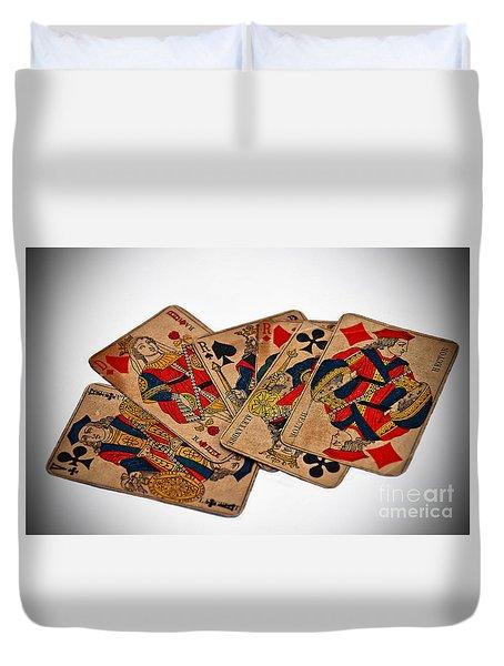 Vintage Playing Cards Art Prints Duvet Cover