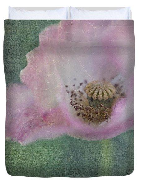 Vintage Poppy Duvet Cover by Priska Wettstein