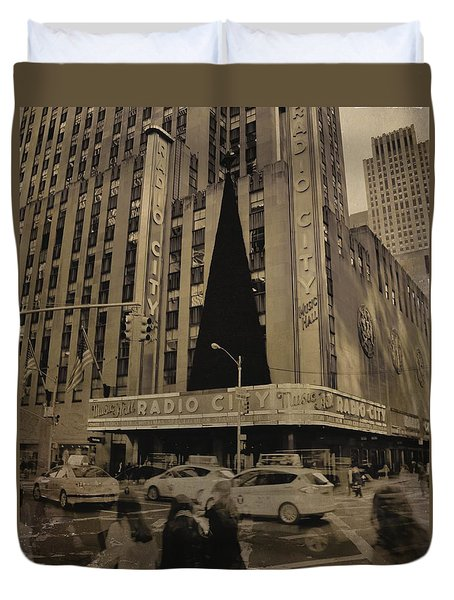 Vintage Radio City Music Hall Duvet Cover by Dan Sproul