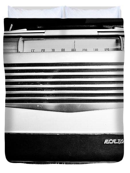 Vintage Radio Duvet Cover by Edward Fielding