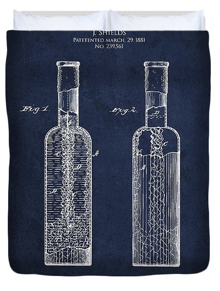 Vintage Rock Candy  Patent Drawing From 1881 Duvet Cover by Aged Pixel