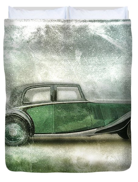 Vintage Rolls Royce Duvet Cover by David Ridley