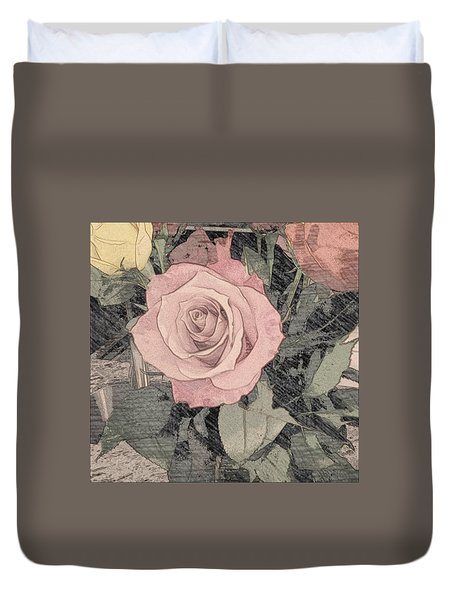 Vintage Romance Rose Duvet Cover