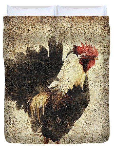 Vintage Rooster Duvet Cover
