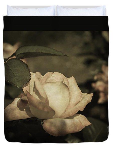 Vintage Rose Garden Duvet Cover
