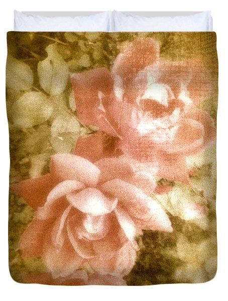 Vintage Pink Roses Shabby Chic  Duvet Cover
