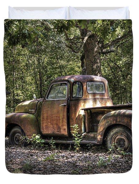 Vintage Rust Duvet Cover by Benanne Stiens