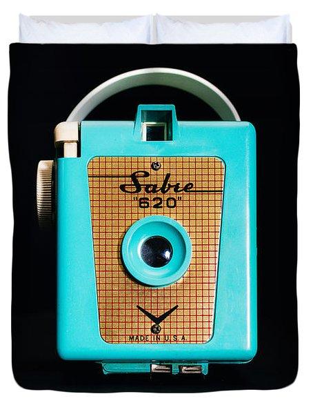 Vintage Sabre 620 Camera Duvet Cover