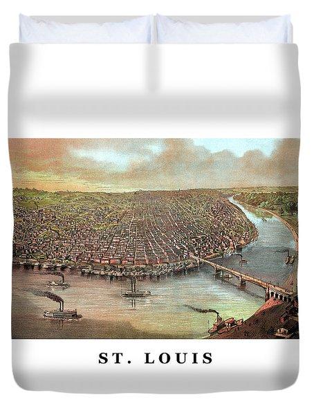 Vintage Saint Louis Missouri Duvet Cover by War Is Hell Store
