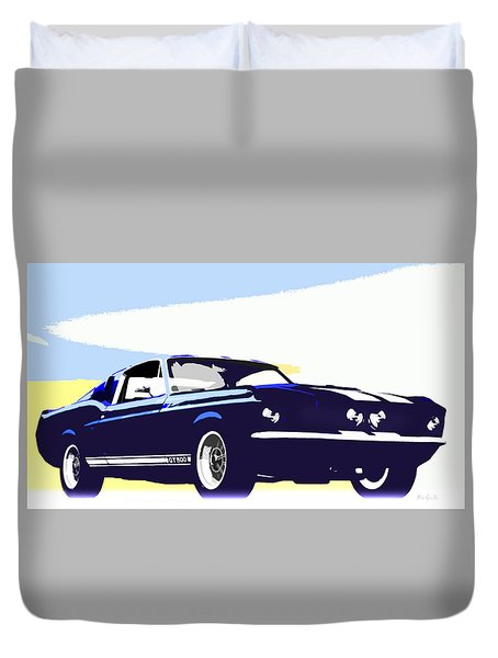 Vintage Shelby Gt500 Duvet Cover by Bob Orsillo