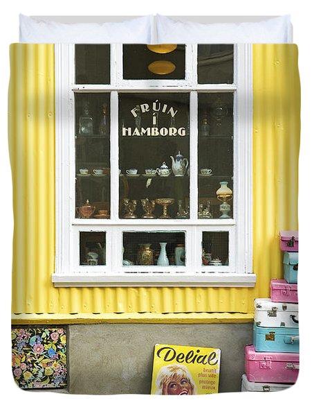 Vintage Shop In Akureyri Iceland Duvet Cover
