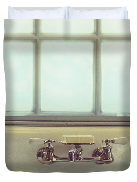 Vintage Soap Duvet Cover by Margie Hurwich