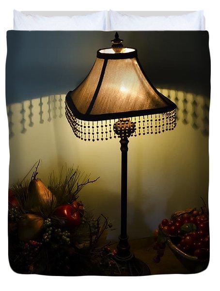 Vintage Still Life And Lamp Duvet Cover
