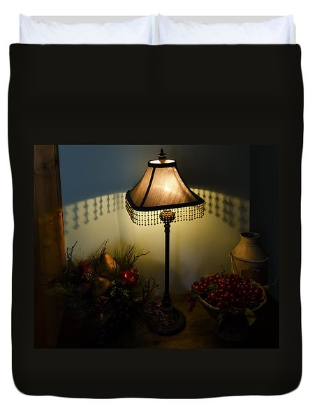 Vintage Still Life And Lamp Duvet Cover