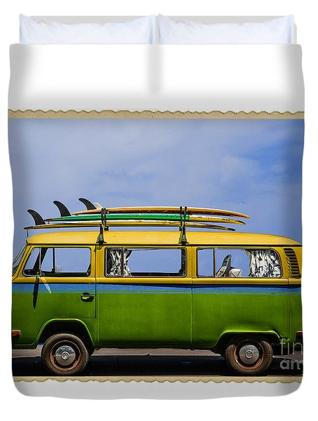 Vintage Surf Van Duvet Cover