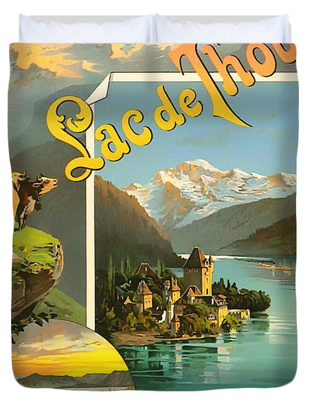 Vintage Tourism Poster 1890 Duvet Cover by Mountain Dreams