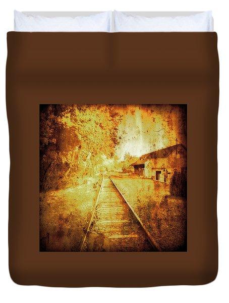 Vintage  Railway Portland Pa Usa Duvet Cover