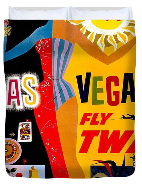 Vintage Travel Poster - Las Vegas Duvet Cover