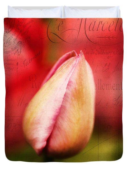 Vintage Tulip Duvet Cover by Darren Fisher