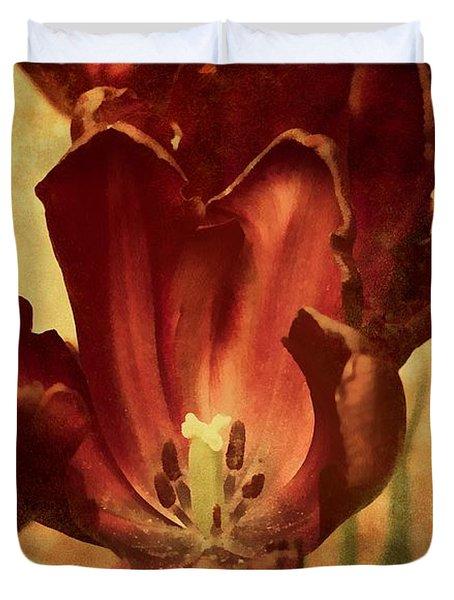 Vintage Tulips Duvet Cover