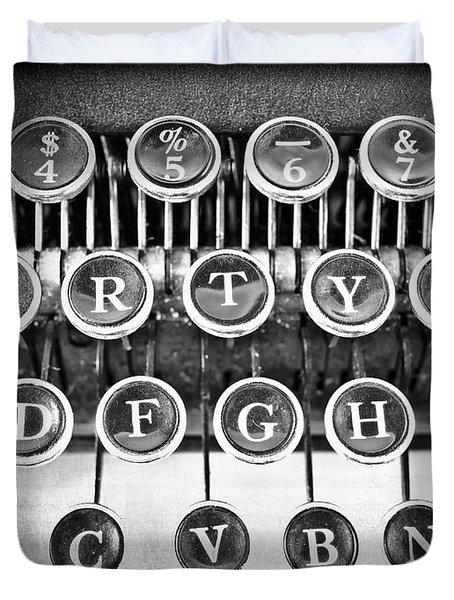Vintage Typewriter Duvet Cover by Edward Fielding