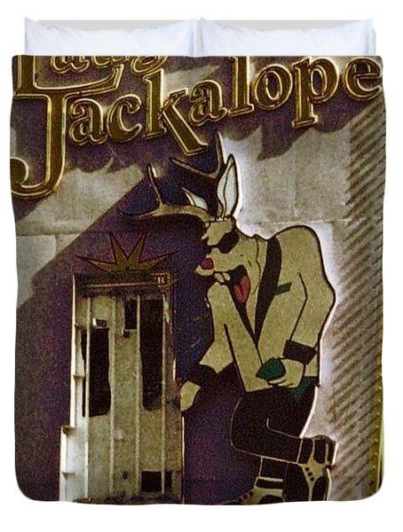 Vintage Vegas Duvet Cover by John Malone