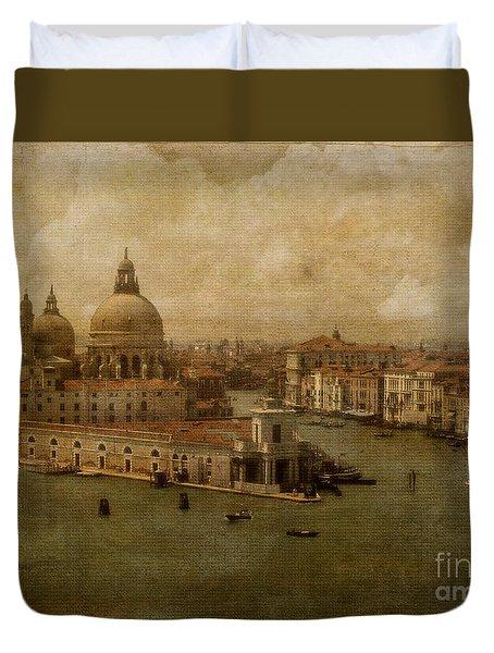 Vintage Venice Duvet Cover by Lois Bryan