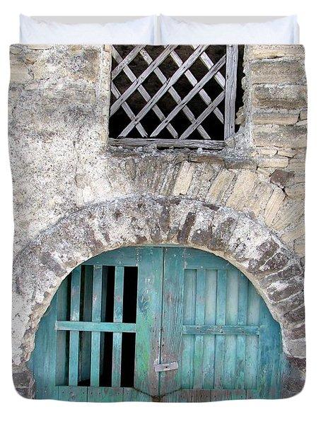 Vintage Wine Cellar Duvet Cover by Patrick Witz