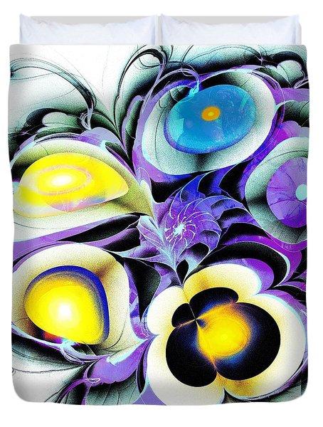 Viola Tricolor Duvet Cover by Anastasiya Malakhova