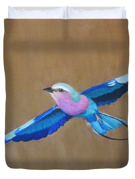 Violet-breasted Roller Bird II Duvet Cover