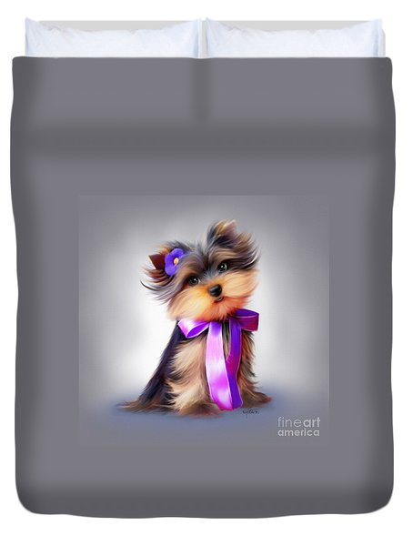 Violet  Duvet Cover by Catia Cho