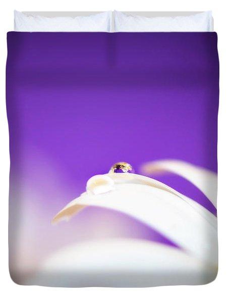 Violet Daisy Dreams Duvet Cover by Lisa Knechtel