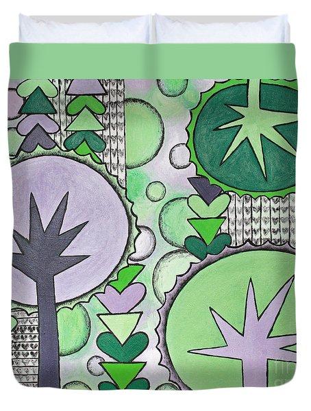 Violet-green Duvet Cover by Home Art