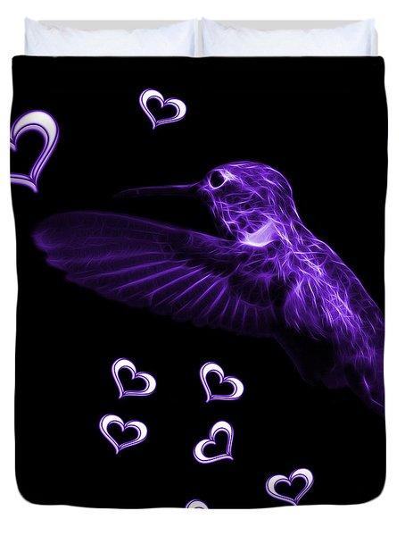 Violet Hummingbird - 2055 F M Duvet Cover