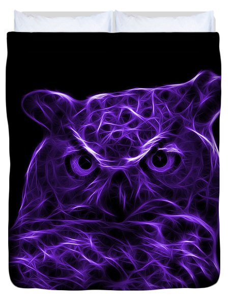 Violet Owl 4436 - F M Duvet Cover by James Ahn