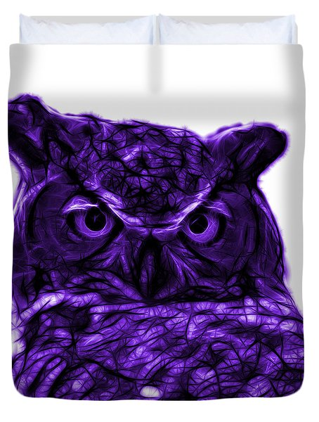 Violet Owl 4436 - F S M Duvet Cover