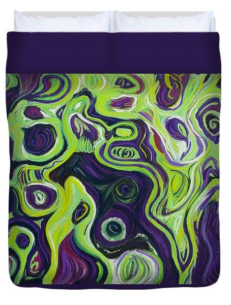 Violeta E Verde Duvet Cover