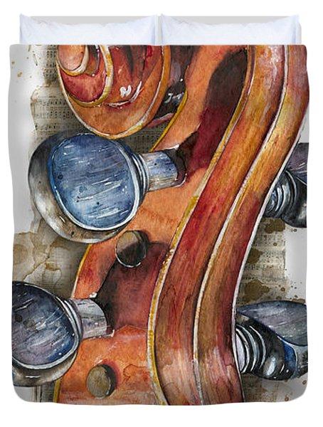 Violin 02 Elena Yakubovich Duvet Cover