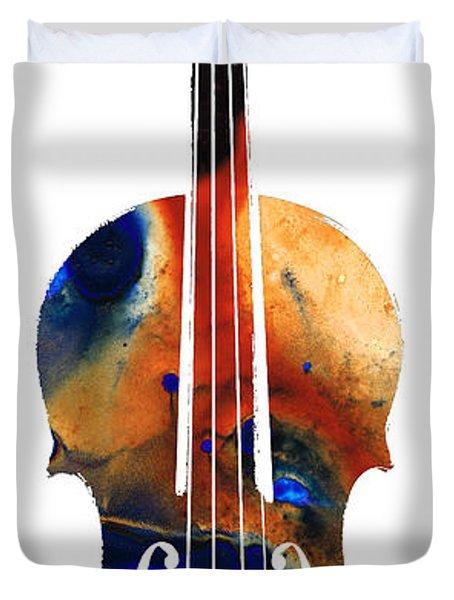 Violin Art By Sharon Cummings Duvet Cover