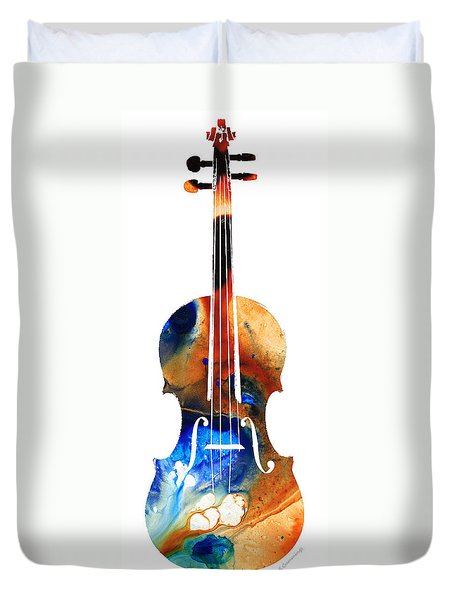 Violin Art By Sharon Cummings Duvet Cover