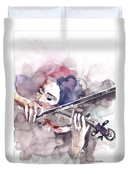 Violin Prelude Duvet Cover by Faruk Koksal