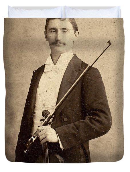 Violinist, C1900 Duvet Cover