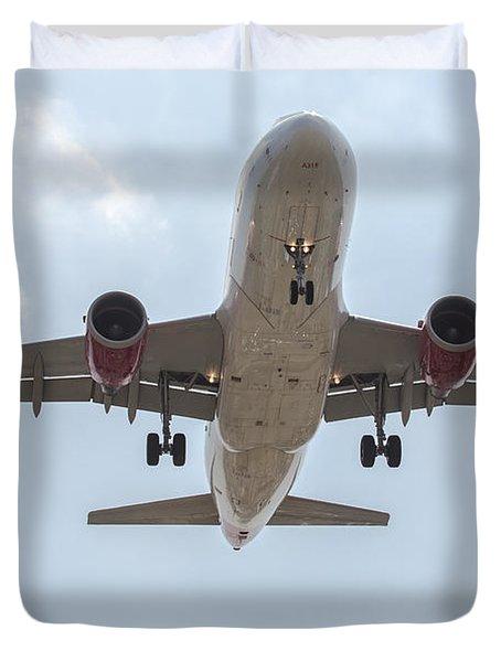 Virgin America Airbus 319 Duvet Cover